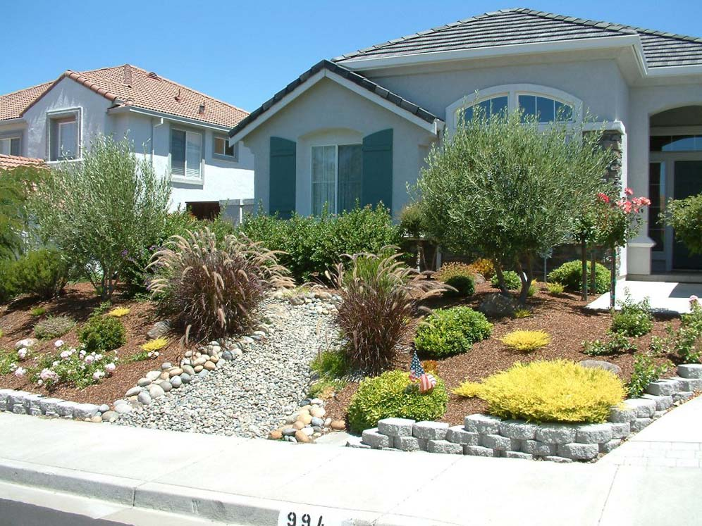 Dry Creek Bed Front Yard